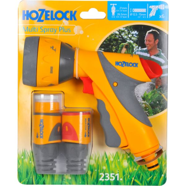 Hozelock Multi Spray Plus Gun & Plus Fittings Set