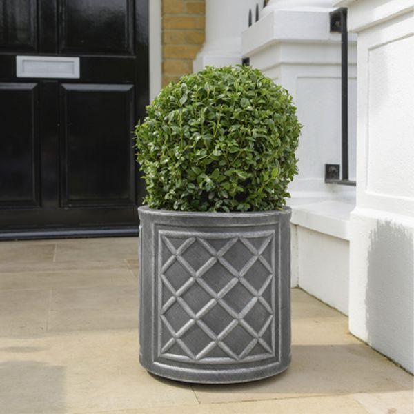 32cm Round Lead Effect Planter