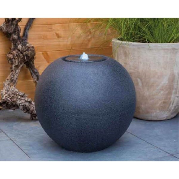 LED Grey Granite Ball Water Feature