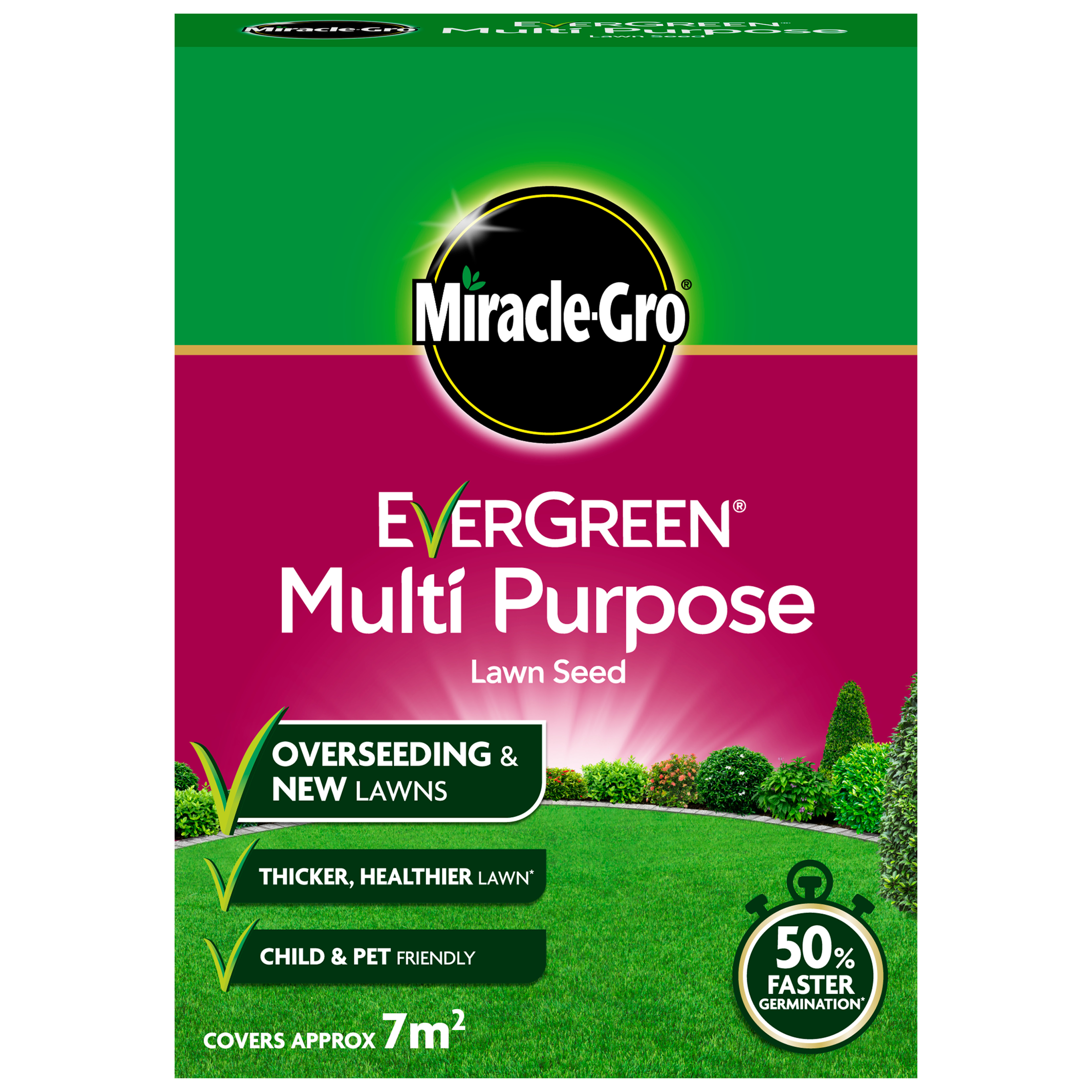 MIRACLE-GRO® EVERGREEN® MULTI PURPOSE LAWN SEED 210g