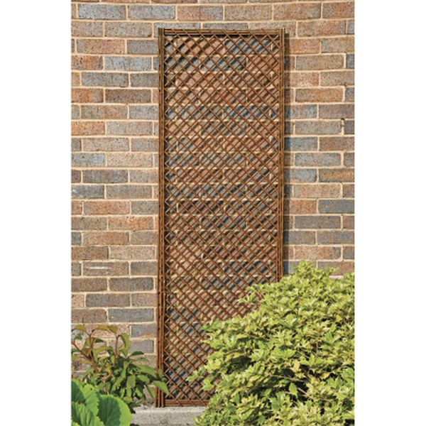Nat 6ft X 2ft Frame Willow Trellis Panel