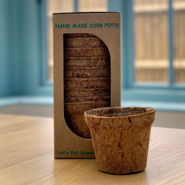 Biodegradable Coir Fibre Pots (10 pk) - 10.75cm