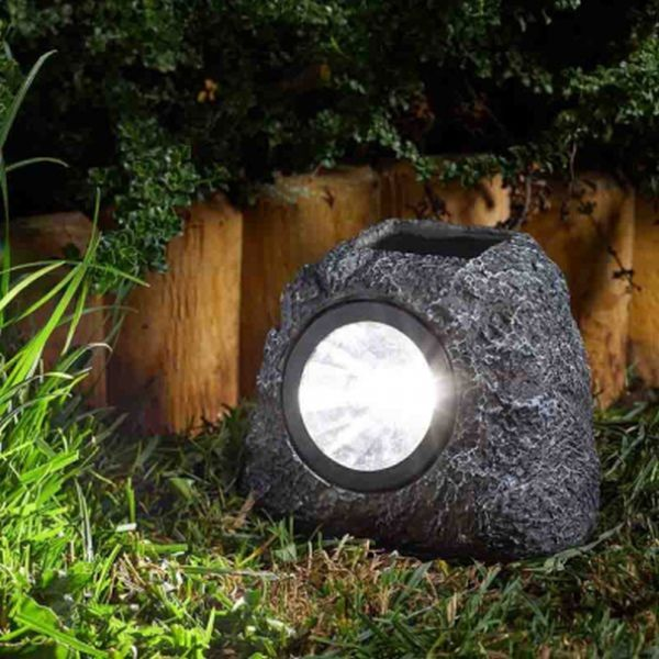GRANITE ROCK SPOT LIGHTS - 4 PACK - SOLAR POWERED