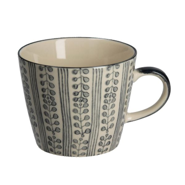 Grey Stripe Berry Ceramic Mug