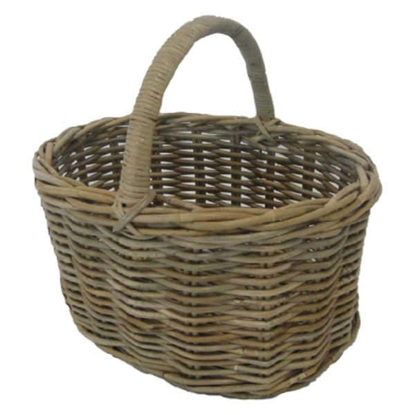 Oval Potato Basket with Hoop Handle