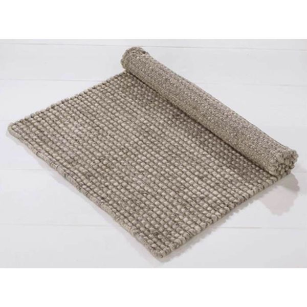 Wool rug taupe