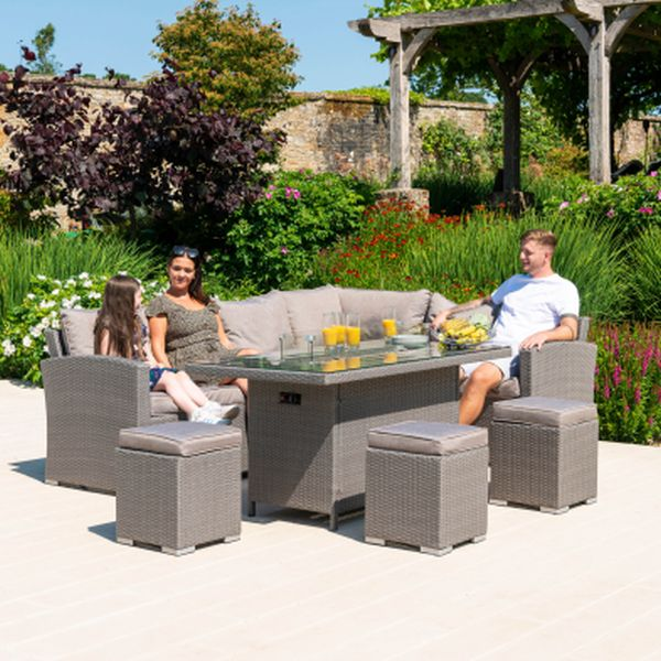 Penrith Corner Dining Set With Firepit