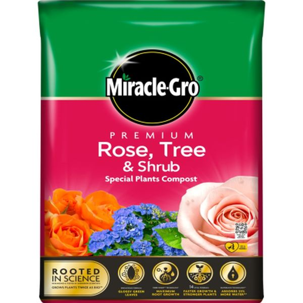 MIRACLE-GRO® PREMIUM ROSE, TREE & SHRUB COMPOST 40L