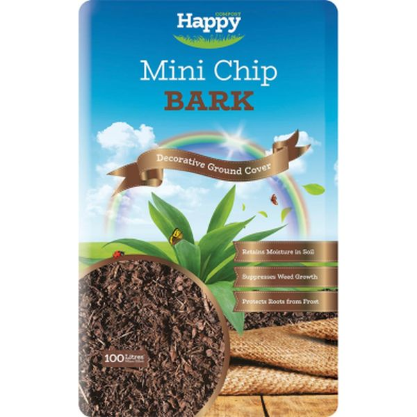 Landscape Mini Chip Bark 100L
