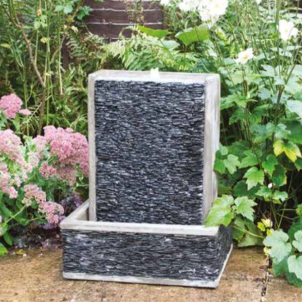 Single Tower Slate Harbour Water Feature