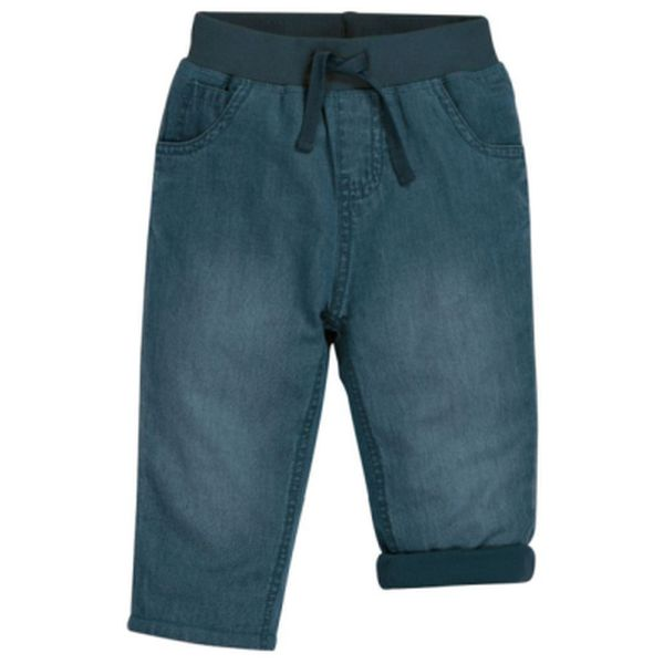Comfy Lined Jeans, Chambray, 0-3m