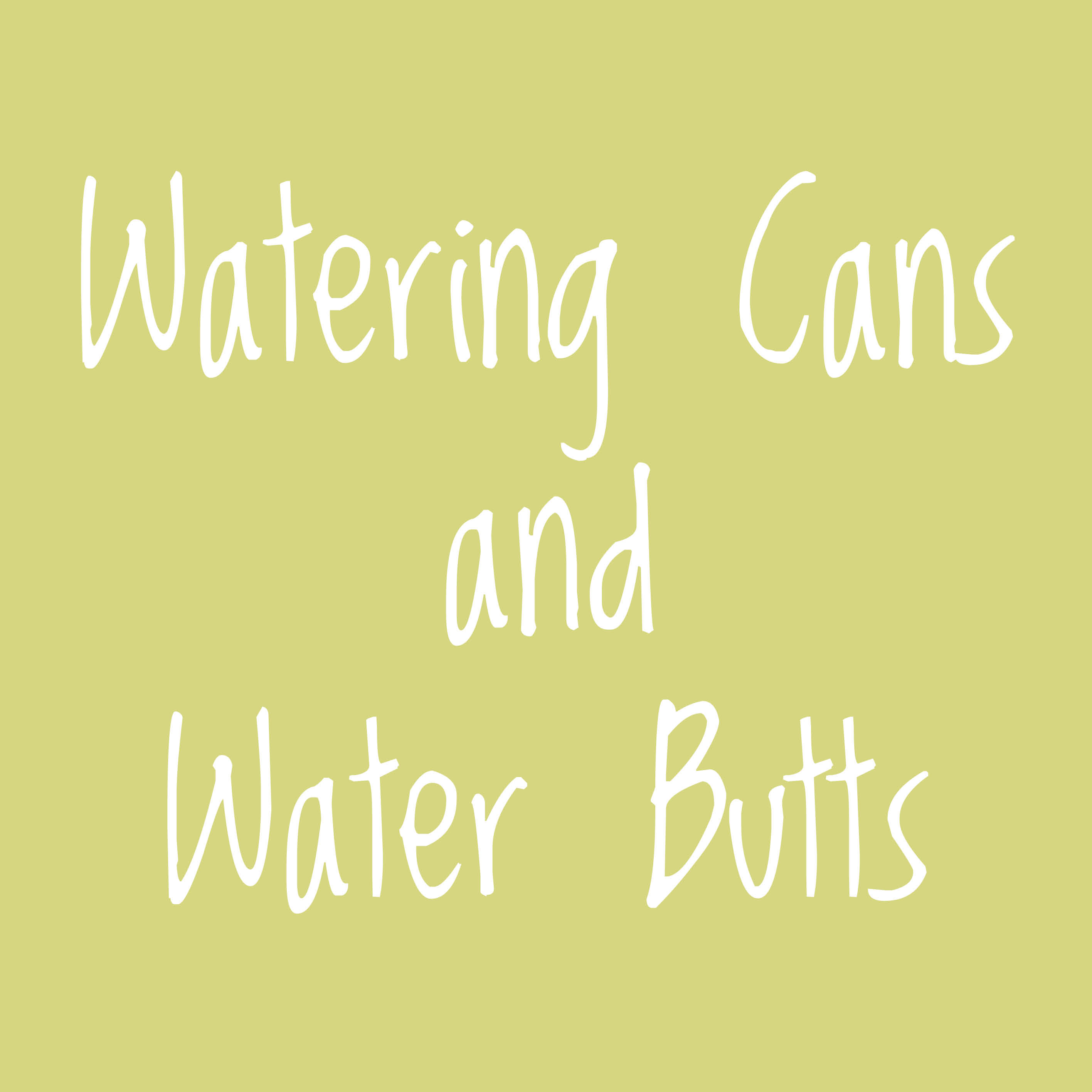 Watering Cans & Water Butts